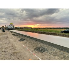 В Калининграде строят дорогу с цементобетонным покрытием